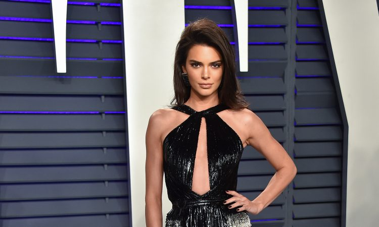 Kendall Jenner's stalker arrested. Here model at Vanity Fair party